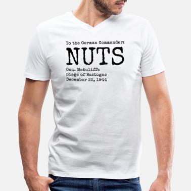 Bulge Nuts by General McAuliffe (Black) - Men's V-Neck T-Shirt