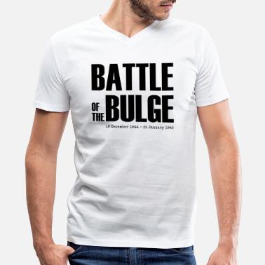 Bulge Battle of the Bulge (Black) - Men's V-Neck T-Shirt