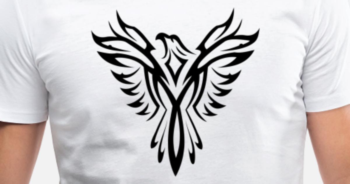 50b3356ae Tribal Phoenix Tattoo Bird Men's V-Neck T-Shirt | Spreadshirt