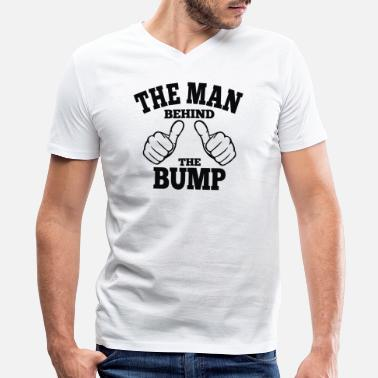 Man The Man Behind The Bump - Men's V-Neck T-Shirt