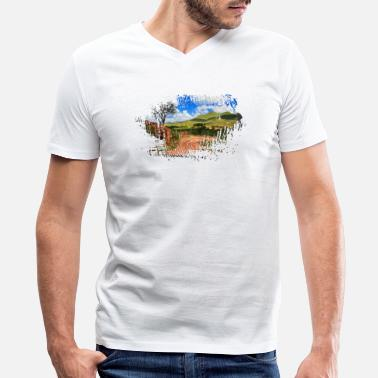 Town Planning See America The Beautiful American Traveller - Men's V-Neck T-Shirt by Canvas