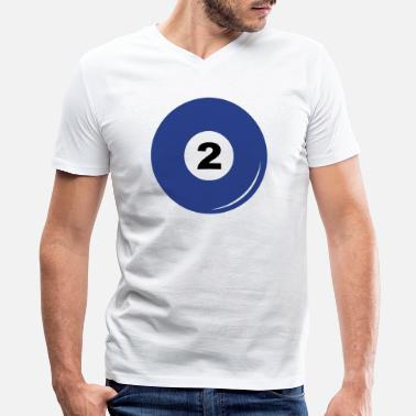 Billiard Billiard ball number 2 - Men's V-Neck T-Shirt by Canvas