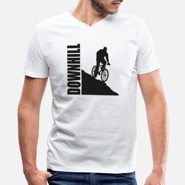Gt Bicycles Bicycle - Downhill - Men's V-Neck T-Shirt by Canvas