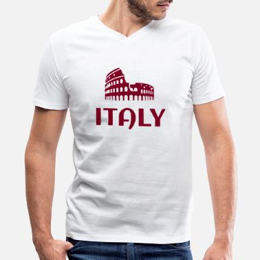 Country Abbreviation ITALY country - Men's V-Neck T-Shirt by Canvas