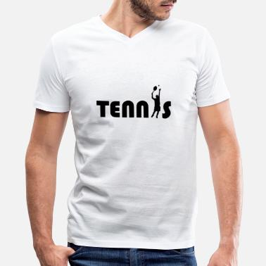 Tennis Game tennis game - Men's V-Neck T-Shirt by Canvas