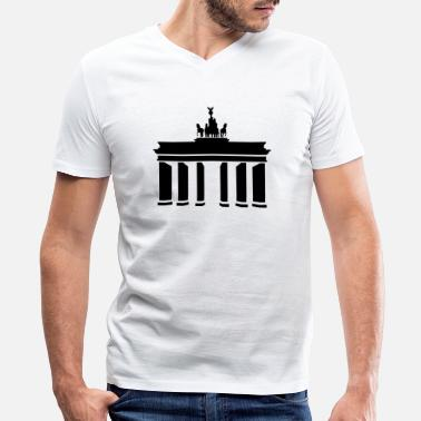 Brandenburg Brandenburg Gate - Men's V-Neck T-Shirt