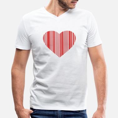 Internet barcode love - Men's V-Neck T-Shirt