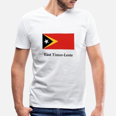 Travel East Timor Flag Mens T-Shirt Timor-Leste Asia Country Dili