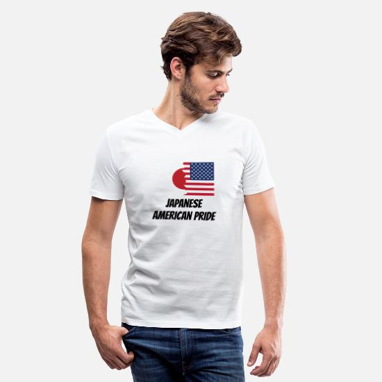 American T-Shirts - Japanese American Pride - Men's V-Neck T-Shirt white