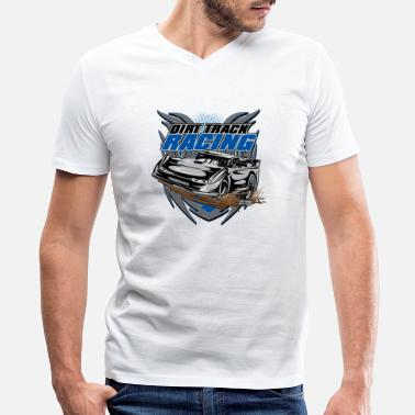 Race Track Modified Car Racer - Men's V-Neck T-Shirt