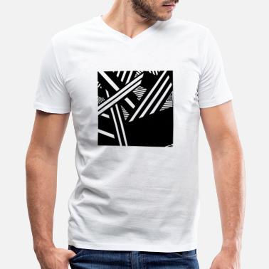 Yin Yang Triangle Weird symetrical line shape art triangle gift idea - Men's V-Neck T-Shirt by Canvas