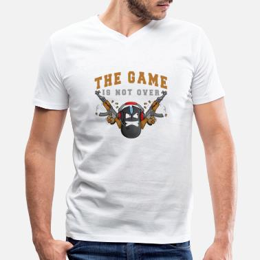 Game Over The game is not over - Men's V-Neck T-Shirt