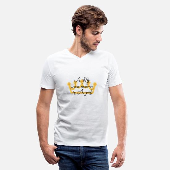 Born T-Shirts - Birthday Design - Men's V-Neck T-Shirt white