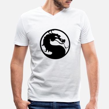 Kombat Kombat Dragon HD VECTOR - Men's V-Neck T-Shirt