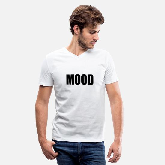Moody T-Shirts - MOOD - Men's V-Neck T-Shirt white
