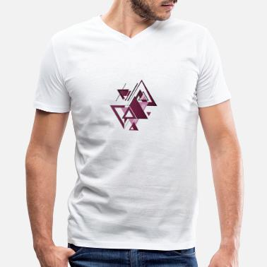 Composition mix of triangles composition - Men's V-Neck T-Shirt