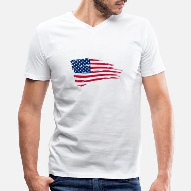 Usa USA Flag - Men's V-Neck T-Shirt