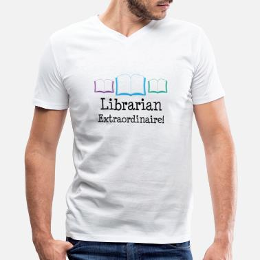 Community Librarian Librarian Extraordinaire Appreciation Gift - Men's V-Neck T-Shirt