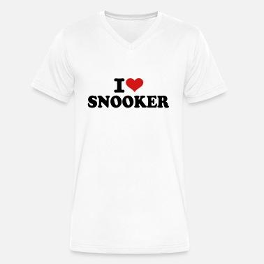 I Love Heart Snooker V-Neck T-Shirt