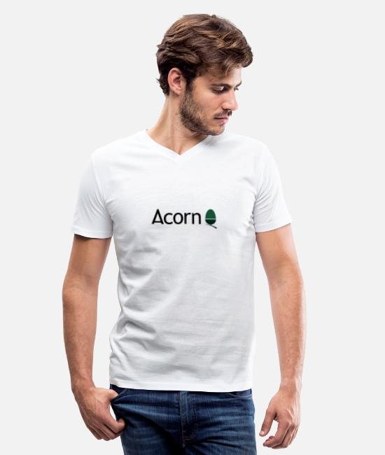 Music T-Shirts - AcornLogo - Men's V-Neck T-Shirt white