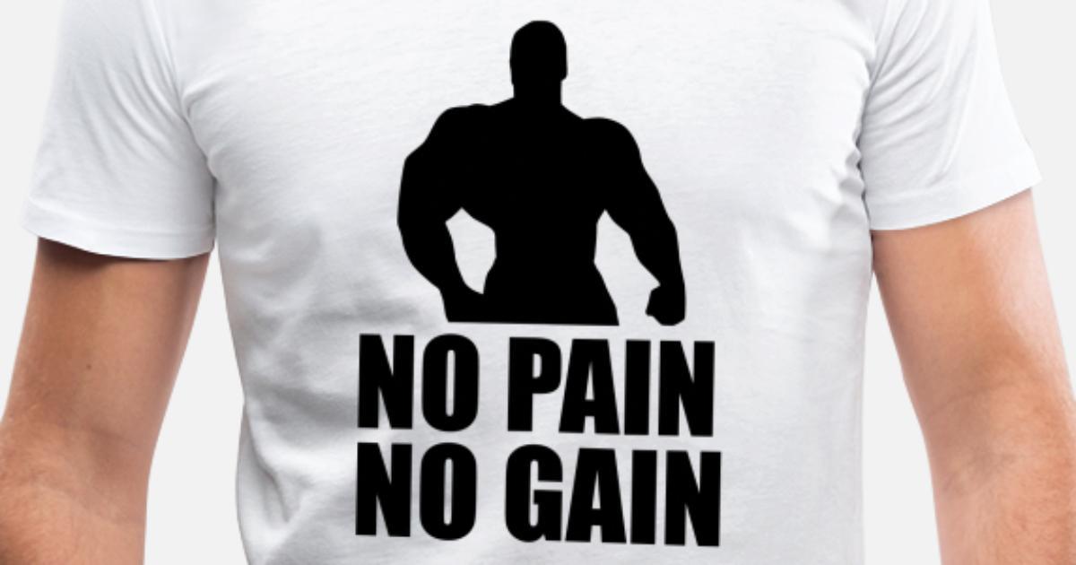 5ffdb831c No Pain No Gain - funny gym Men's V-Neck T-Shirt | Spreadshirt