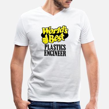 Plastics Engineer Plastics engineer - world's best plastics engine - Men's V-Neck T-Shirt by Canvas