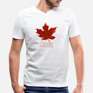 3xl Canada Canada - Men's V-Neck T-Shirt by Canvas