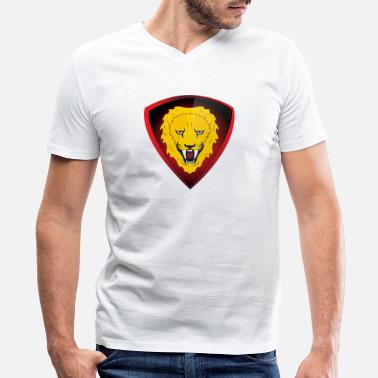 Lion Dog lion - Men's V-Neck T-Shirt