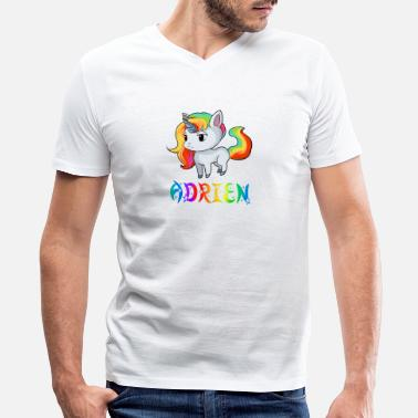 Adrien Adrien Unicorn - Men's V-Neck T-Shirt by Canvas