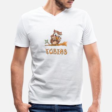 Tobias Tobias Owl - Men's V-Neck T-Shirt