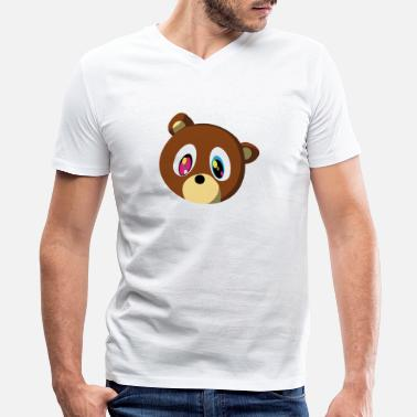 Kanye Bear Kanye Bear - Men's V-Neck T-Shirt by Canvas