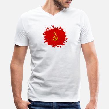 Ussr Communism USSR blob / Soviet Union gift communism - Men's V-Neck T-Shirt