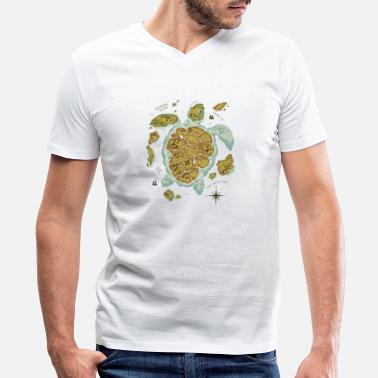 Turtle Quotes Turtle Island - Men's V-Neck T-Shirt by Canvas