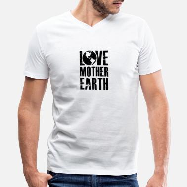 Mother Earth Love Mother Earth - Mother Nature - Total Basics - Men's V-Neck T-Shirt by Canvas
