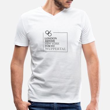 Wuppertal Wuppertal - Men's V-Neck T-Shirt by Canvas