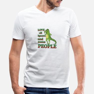 Iguana Love All Iguana And Some People - Men's V-Neck T-Shirt