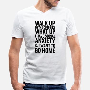 Home Alone Home - Men's V-Neck T-Shirt by Canvas