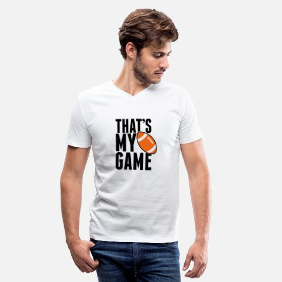 Rugby T-Shirts - Rugby - that's my game - Men's V-Neck T-Shirt white