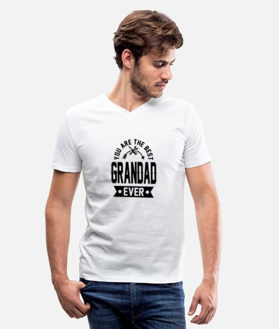 Grandad T-Shirts - grandad 1a.png - Men's V-Neck T-Shirt white