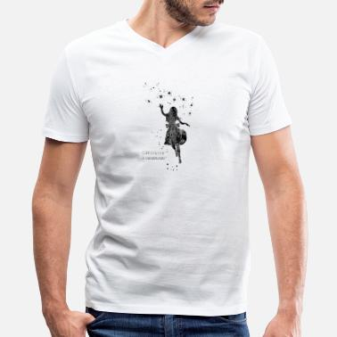 Alice In Wonderland Quote Alice in Wonderland, curiouser and curiouser - Men's V-Neck T-Shirt by Canvas
