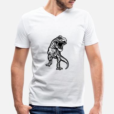 Tyrannosaurus T-rex - Men's V-Neck T-Shirt by Canvas