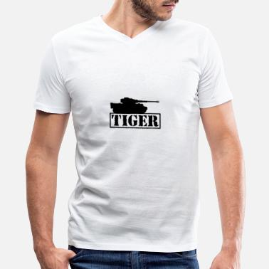 Main Battle Tank Tiger main battle tank military - Men's V-Neck T-Shirt by Canvas