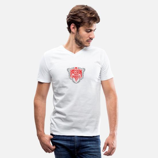 Art T-Shirts - Pasion over profit - Men's V-Neck T-Shirt white