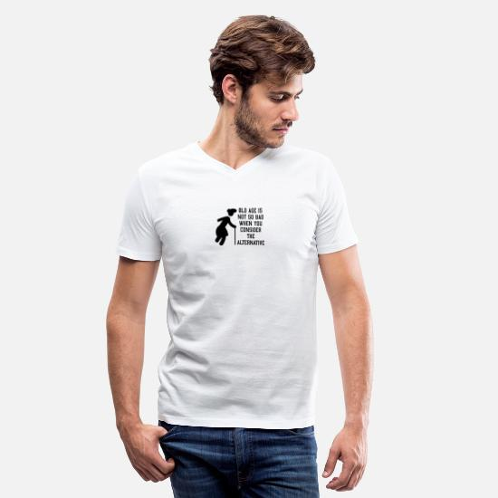 Age T-Shirts - Old age - Men's V-Neck T-Shirt white