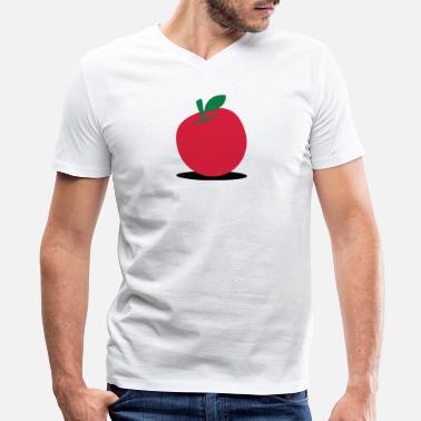 Trading Places A Delicious Red Apple! - Men's V-Neck T-Shirt by Canvas