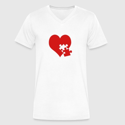 lovesickness - Men's V-Neck T-Shirt by Canvas