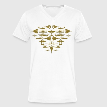 Aircraft collage - Men's V-Neck T-Shirt by Canvas