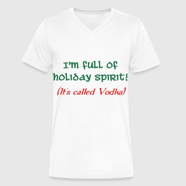 holiday spirit vodka - Men's V-Neck T-Shirt by Canvas