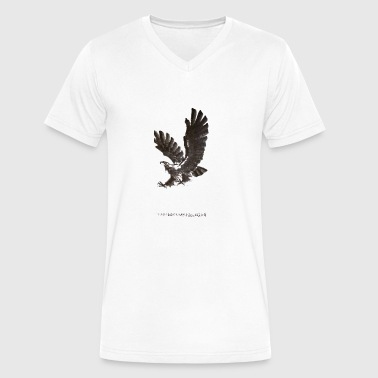ink eagle - Men's V-Neck T-Shirt by Canvas