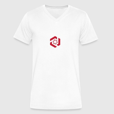 Temporary Logo Design - Men's V-Neck T-Shirt by Canvas